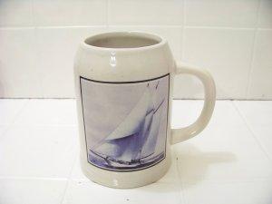 sailboat beer mug