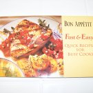 Bon Appetit fast & easy quick recipes for busy cooks