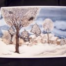Villeroy & Boch Vibocard wall hanging Winter village postcard