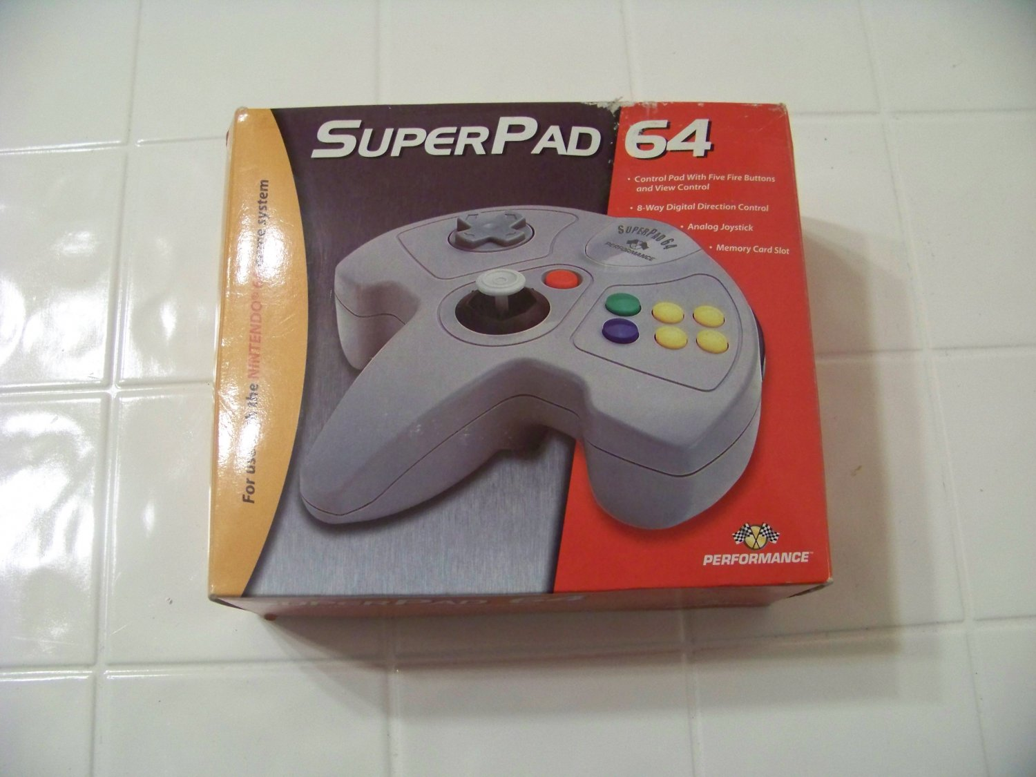 Superpad 64 in box for use with the nintendo 64 game system n64