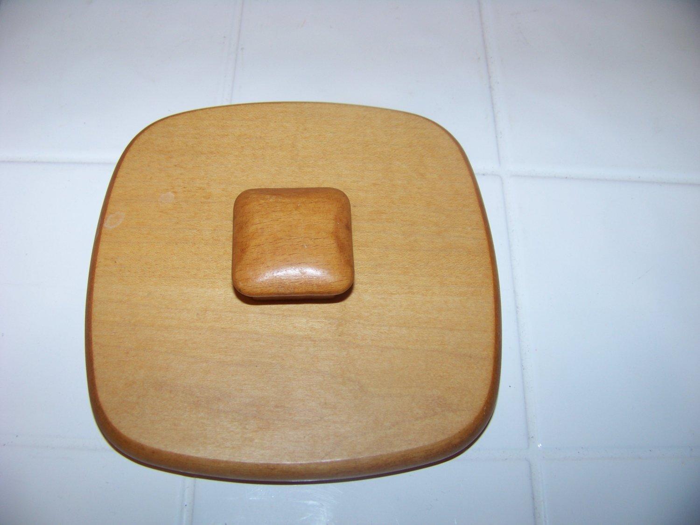 Longaberger square wood basket lid