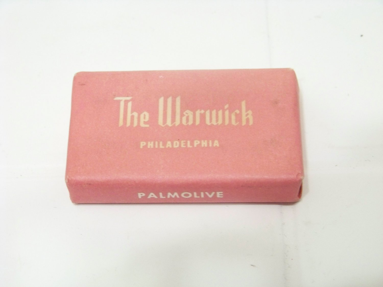 vintage The Warwick hotel advertising mini Palmolive bar soap