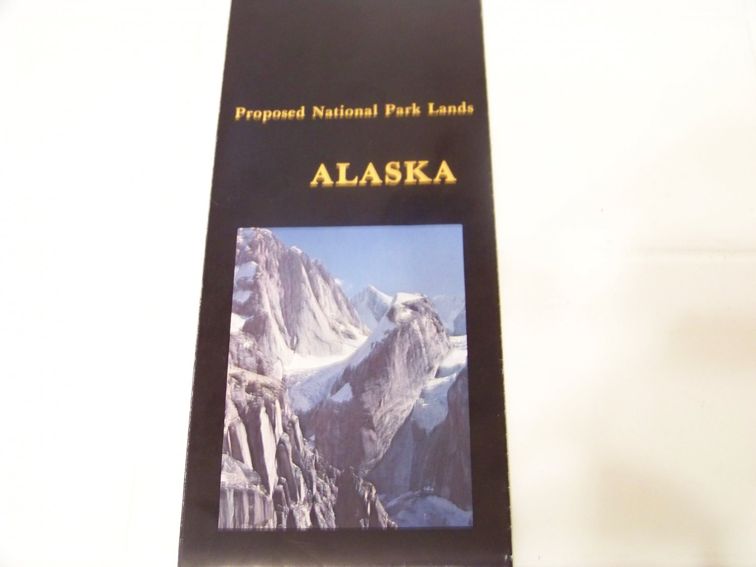 Alaska proposed national park lands vintage brochure map