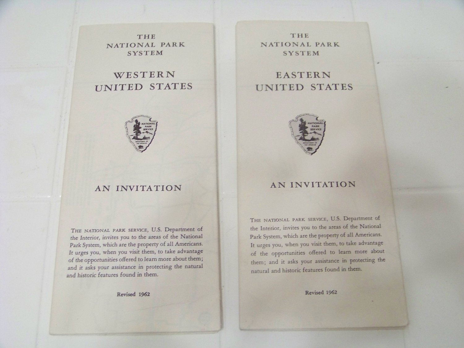 vintage map national parks systems eastern and western United States