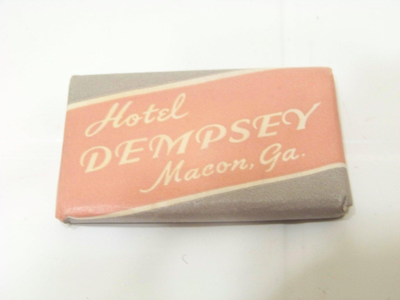vintage Dempsey hotel bar soap advertising