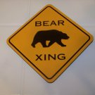 set of 4 bear xing coasters cork bottom