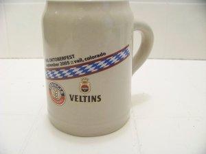 Erdinger Weissbrau Veltins beer stein 2005 Vail Colorado Oktoberfest .5L