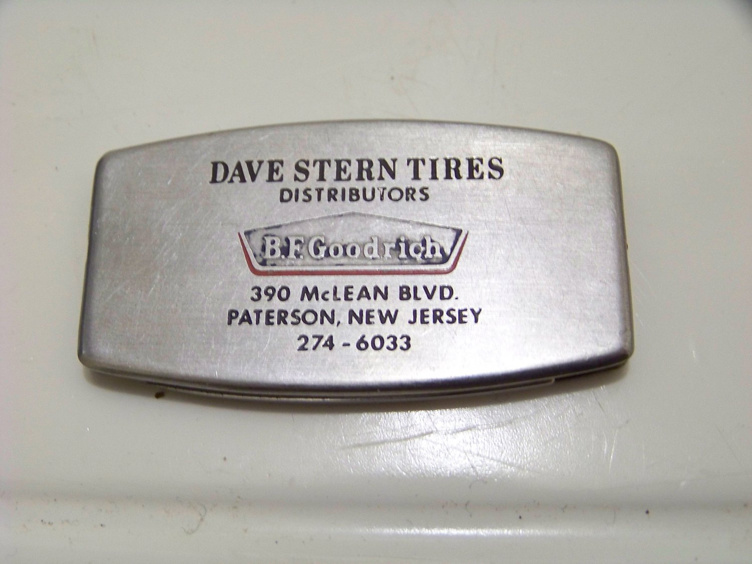 Dave Stern tires distributor knife file advertising B.F. Goodrich made by Zippo