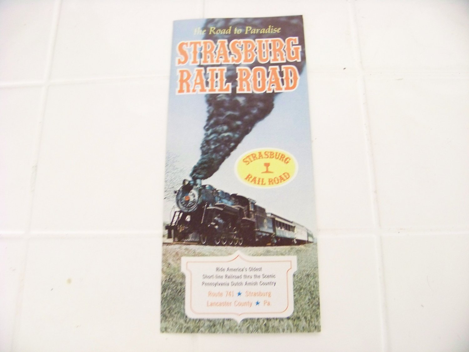 Strasburg railroad the road to paradise 1970 operating schedule pamphlet