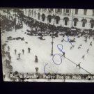 vintage slide Russia revolts police fires on mob 1917 black and white slide