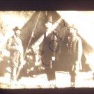 vintage slide Lincoln visist battlefield 1862 black and white slide