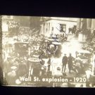 vintage slide Wall St. explosion 1920 black and white slide
