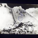 vintage slide Alaska Klondike Gold Rush 1898 black and white slide