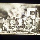 vintage slide disaster strikes San Francisco 1906 black and white slide