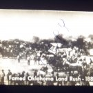 vintage slide famed Oklahoma land rush 1889 black and white slide