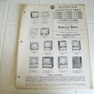 RCA Victor service data 1954 no.T11 television receivers vintage electronics