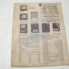 RCA Victor service data 1951 no.T7 television receivers vintage electronics