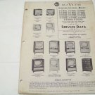 RCA Victor service data 1954 no.T4 television receivers vintage electronics