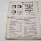 RCA Victor service data 1955 no.T6 television receivers vintage electronics
