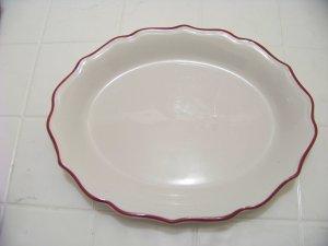 Syracuse red rimmed platter 96-G diner ware