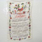 vintage 1976 cloth dish towel calendar rooster Dodson