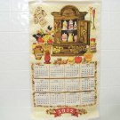 vintage 1972 cloth calendar kitchen calendar featuring spices