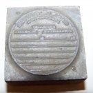 vintage printer block metal stamp prescription pharmaceutical druggist