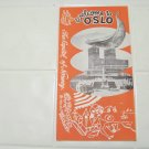 Oslo Norway vintage travel brochure Norwegian American Line