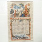 vintage 1977 cloth calendar bless this house each brick and rafter