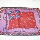 vintage felt Great Britain flag cigar cigarette Tobacciana WW1 WW2 purple