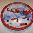perfect Christmas cookie plate Santa Claus on sleigh delivering toys