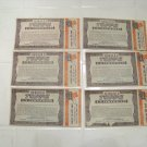 6 Vintage Topps 1/2 certificate chewing gum advertising premium