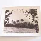 Vintage island in Honolulu Hawaii photograph black white photo