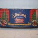 Vintage Sterling indoor Christmas 7 light strand decoration GE Straitline works