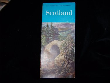 vintage Scotland booklet travel brochure guide book advertising