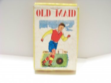 vintage deck of Old Maid cards toy great graphics Hong Kong