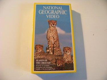 vintage National Geographic Video beta betamax tape Season of the Cheetah