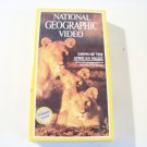 vintage National Geographic Video beta betamax tape Lions of the African night