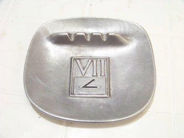 vintage Wilton armetale ashtray advertising 7 vii pewter