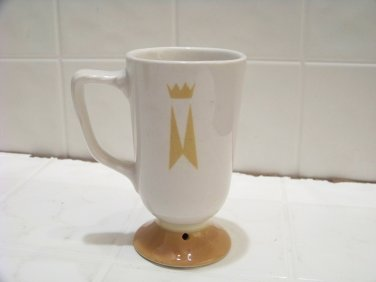 Vintage Marriott Hotels coffee cup advertising restaurant ware pedestal crown