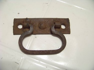 vintage iron pull hardware blacksmith made