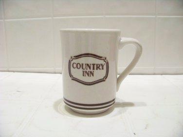 Country Inn advertising coffee cup mug restaurant ware Buffalo china USA