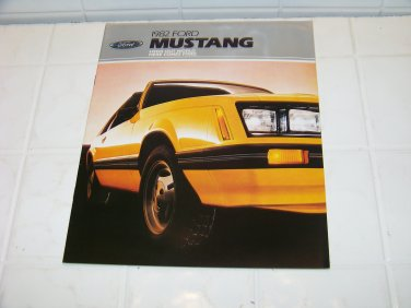 1982 Ford Mustang brochure vintage advertising automotive Look out world 82
