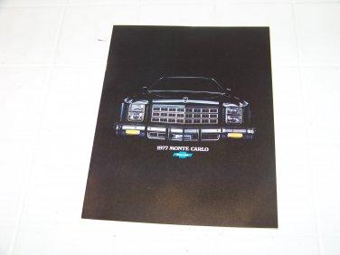 1977 Chevrolet Monte Carlo brochure vintage advertising automotive 77