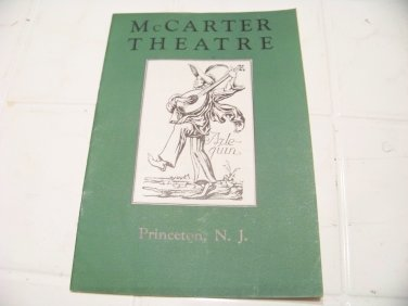 vintage McCarter Theatre Princeton NJ program Man & masses 1931 and ticket stub