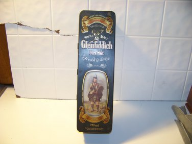 Glenfiddich Scotch Whiskey tin advertising box empty