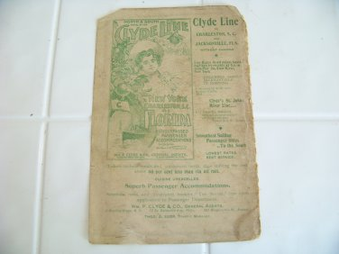 vintage Clyde Line advertising sailing passenger ship steamships steamers travel