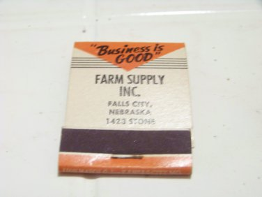 vintage front strike matchbook Farm Supply Nourse motor oil advertising