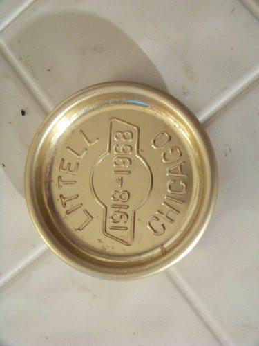 Vintage Littell Chicago ashtray advertising 1919-1968 tobacciana