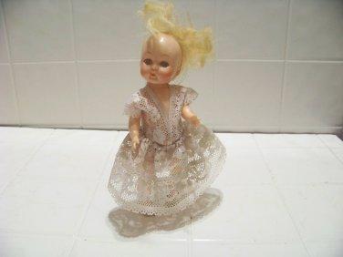 vintage plastic doll made in Hong Kong torch hallmark